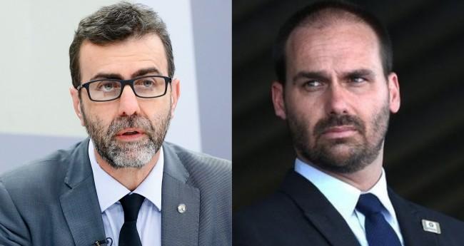 Marcelo Freixo e Eduardo Bolsonaro - Foto: Luis Macedo/Câmara dos Deputados; Reprodução