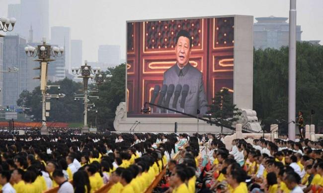 Xi Jinping durante a comemoração dos 100 do Partido Comunista Chinês - Reprodução internet