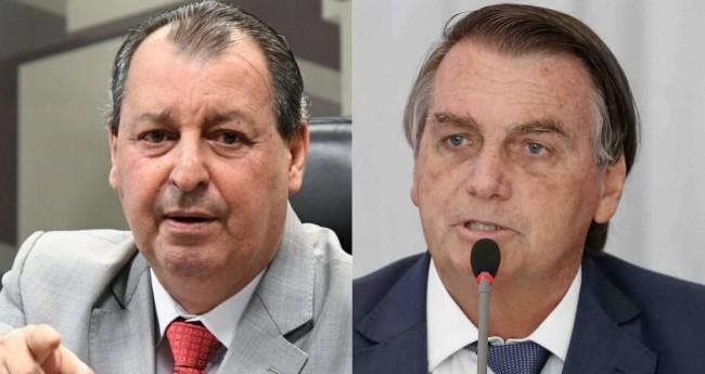 Omar Aziz e Jair Bolsonaro - Foto: Senado Federal; Alan Santos/PR