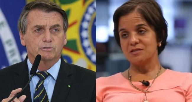 Jair Bolsonaro e Vera Magalhães - Foto: Fabio Rodrigues Pozzebom/Agência Brasil; Reprodução