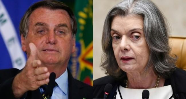 Jair Bolsonaro e Cármen Lúcia - Foto: Reprodução