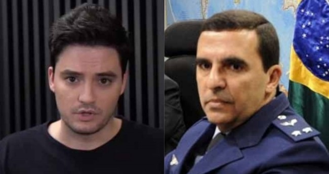 Felipe Neto e Brigadeiro Carlos Almeida Baptista Junior - Foto: Reprodução