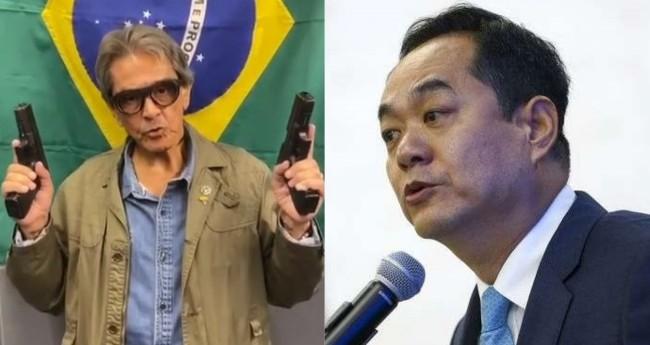 Roberto Jefferson e Yang Wanming - Foto: Reprodução; Marcelo Camargo/Agência Brasil