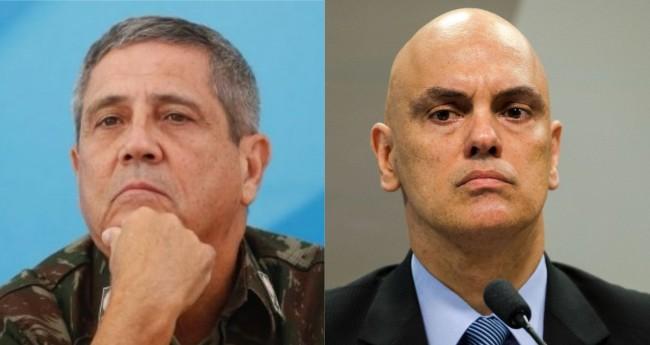 General Braga Neto e Alexandre de Moraes - Foto: Agência Brasil