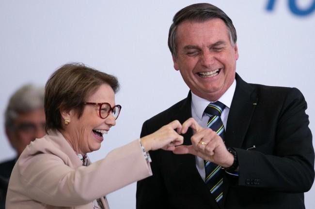 Tereza Cristina e Jair Bolsonaro - Foto: Reprodução