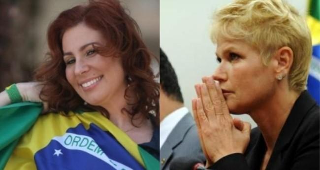 Carla Zambelli e Xuxa - Foto: Reprodução; Gabriela Korossy/Câmara dos Deputados