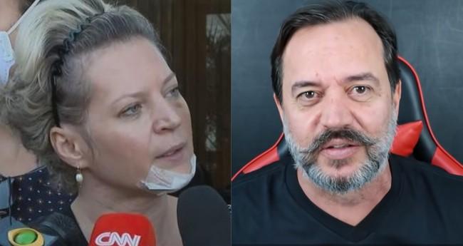 Joice Hasselmann e Ricardo Ventura - Foto: CNN; Reprodução