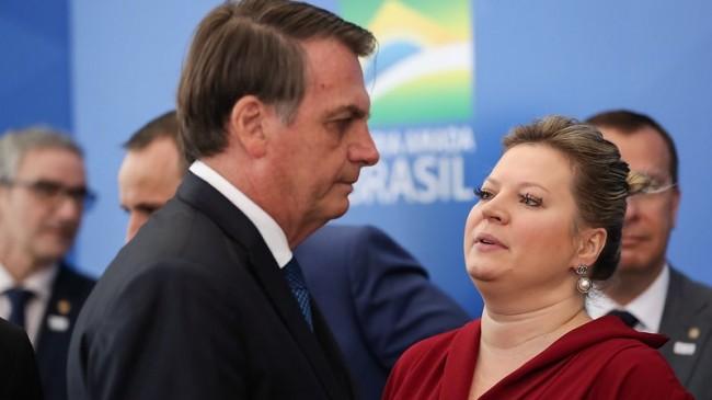 Jair Bolsonaro e Joice Hasselmann - Foto: Reprodução