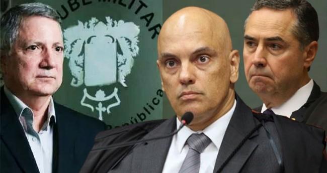 General Eduardo José Barbosa, Alexandre de Moraes e Luis Roberto Barroso - Foto: Reprodução; STF