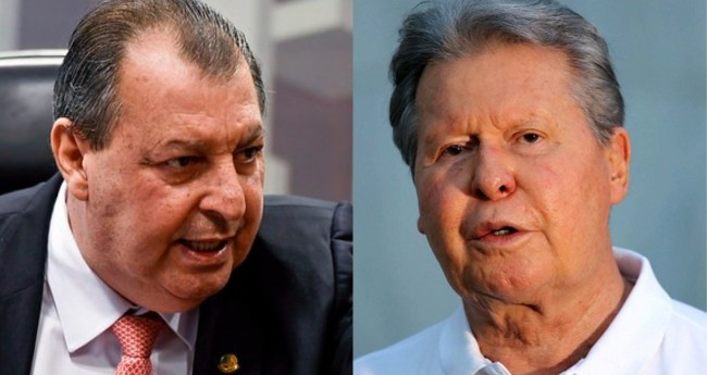 Omar Aziz e Arthur Virgílio Neto - Foto: Edilson Rodrigues/Agência Senado; Mário Oliveira/Semcom