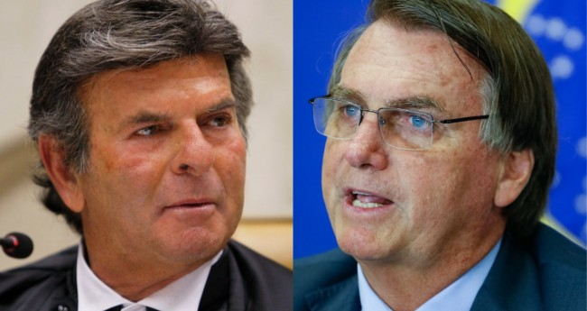 Luiz Fux e Jair Bolsonaro - Foto: STF; PR