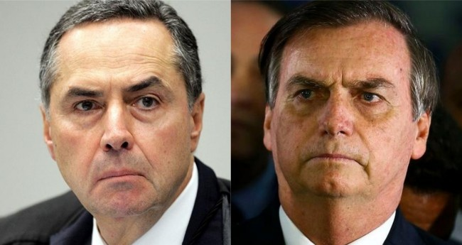 Luis Roberto Barroso e Jair Bolsonaro - Foto: STF; Reprodução