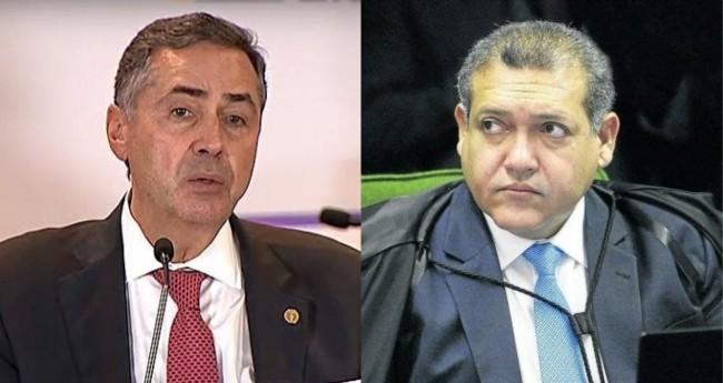 Luis Roberto Barroso e Nunes Marques - Foto: Reprodução; Fellipe Sampaio/SCO/STF