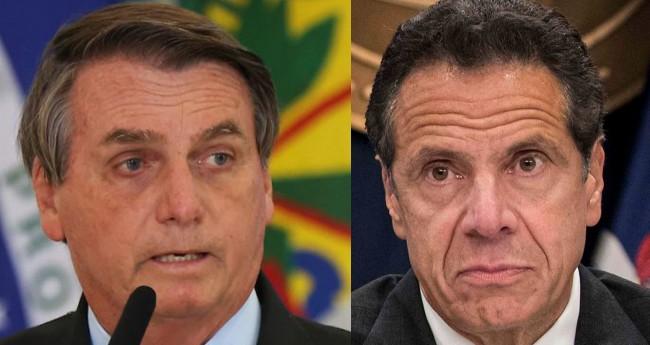 Jair Bolsonaro e Andrew Cuomo - Foto: Reprodução