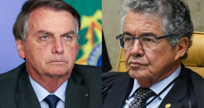 Jair Bolsonaro e Marco Aurélio Mello - Foto: Isac Nóbrega/PR; Carlos Moura/SCO/STF
