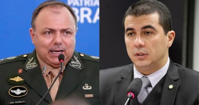 General Eduardo Pazuello e Luis Miranda - Foto: Alan Santos/PR; Agência Câmara
