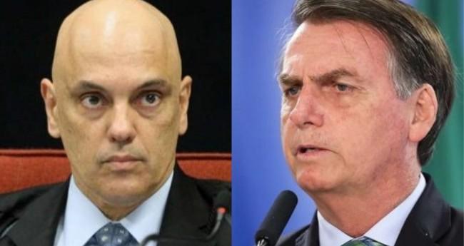 Alexandre de Moraes e Jair Bolsonaro - Foto: Reprodução