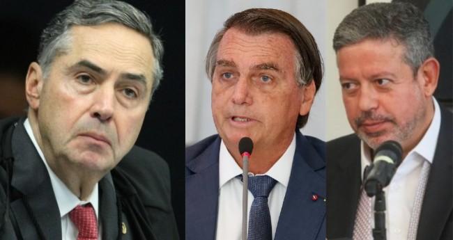 Luis Roberto Barroso, Jair Bolsonaro e Arthur Lira - Foto: STF; PR; Reprodução