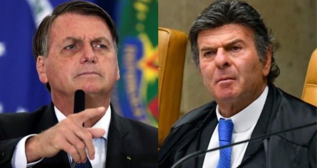 Jair Bolsonaro e Luiz Fux - Foto: Reprodução; Carlos Moura/STF