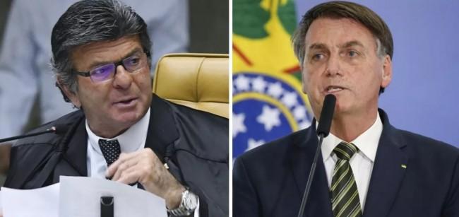 Luiz Fux e Jair Bolsonaro - Foto: Carlos Moura/STF   Alan Santos/PR