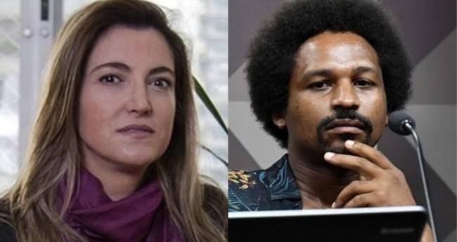 Patrícia Campos Mello e Hans River do Nascimento - Foto: Reprodução; Jane de Araújo/Agência Senado