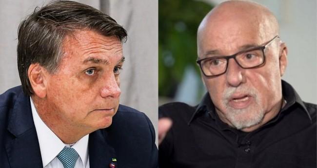 Jair Bolsonaro e Paulo Coelho - Foto: Alan Santos/PR; Reprodução