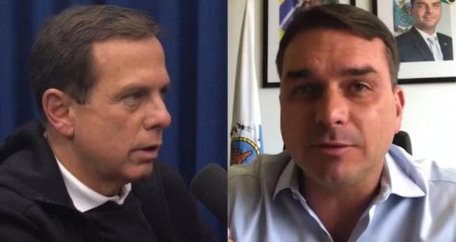 João Doria e Flávio Bolsonaro - Foto: Reprodução