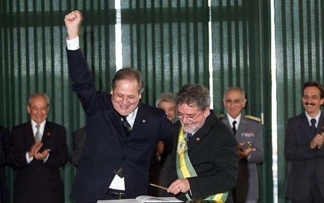 Dirceu e Lula em 2003 - Reprodução internet