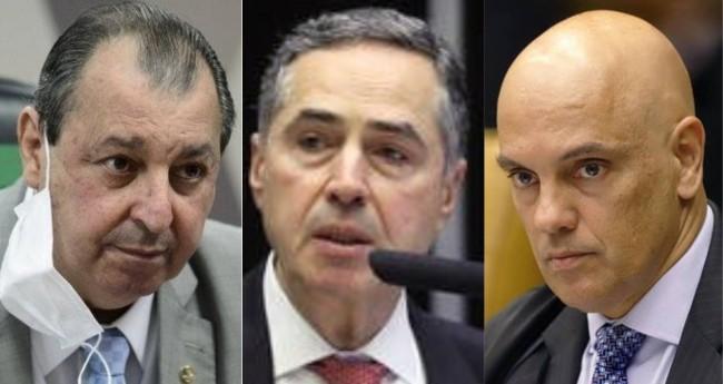 Omar Aziz, Luís Roberto Barroso e Alexandre de Moraes - Foto: Pedro França/Senado; Luis Macedo/Câmara; Rousinei Coutinho/STF