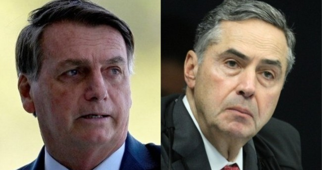 Jair Bolsonaro e Luis Roberto Barroso- Foto: Alan Santos/PR; Nelson Jr./STF