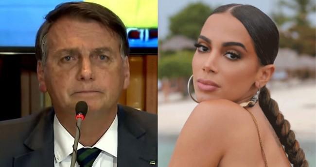 Jair Bolsonaro e Anitta - Foto: Reprodução