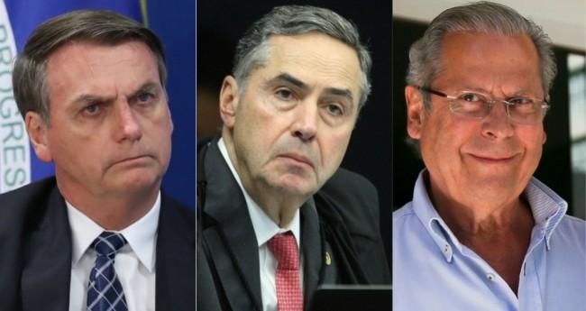 Jair Bolsonaro, Luis Roberto Barroso e José Dirceu - Foto: Marcos Corrêa/PR; Nelson Jr./STF; Marcelo Camargo/Agência Brasil
