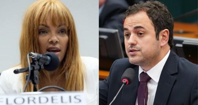 Flordelis e Glauber Braga - Foto: Câmara dos Deputados