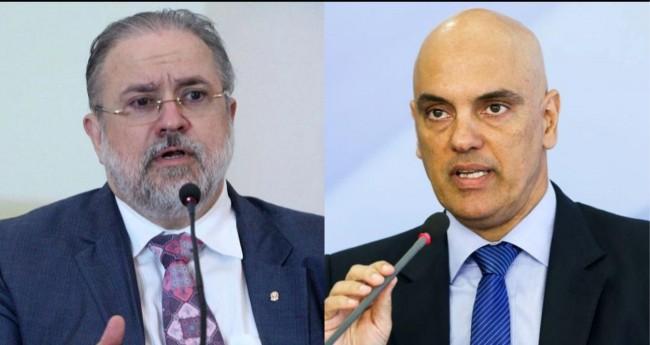 Augusto Aras e Alexandre de Moraes - Foto: Agência Brasil