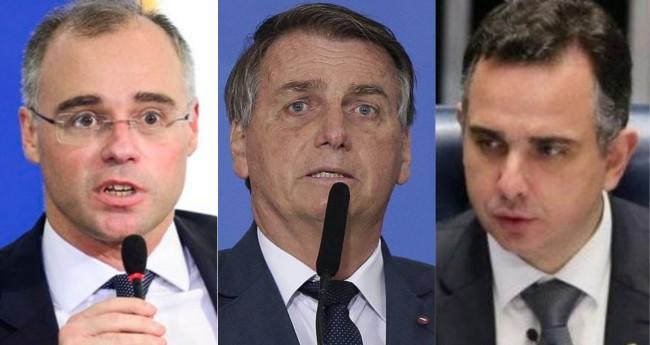 André Mendonça, Jair Bolsonaro e Rodrigo Pacheco - Fotos: Agência Brasil