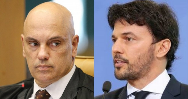 Alexandre de Moraes e Fabio Faria - Foto: Nelson Jr./SCO/STF; Carolina Antunes/PR
