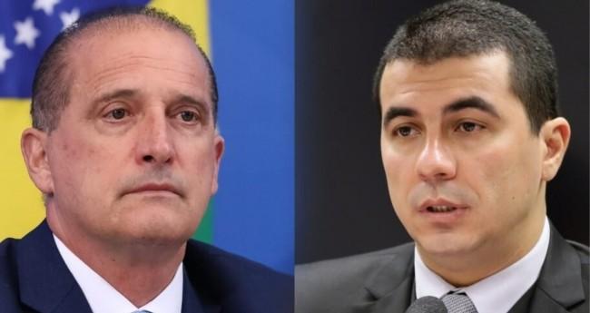 Onyx Lorenzoni e Luís Miranda - Foto: Reprodução/Câmara