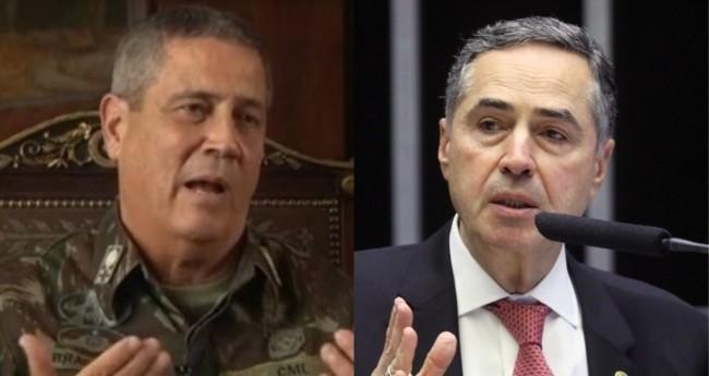 General Braga Netto e Luis Roberto Barroso - Foto: Reprodução; Câmara