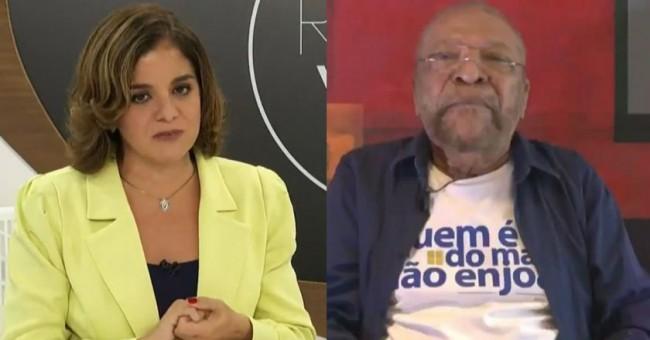 Vera Magalhães e Martinho da Vila - Foto: Reprodução de TV