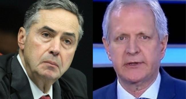 Luis Roberto Barroso e Augusto Nunes - Foto: STF; Reprodução