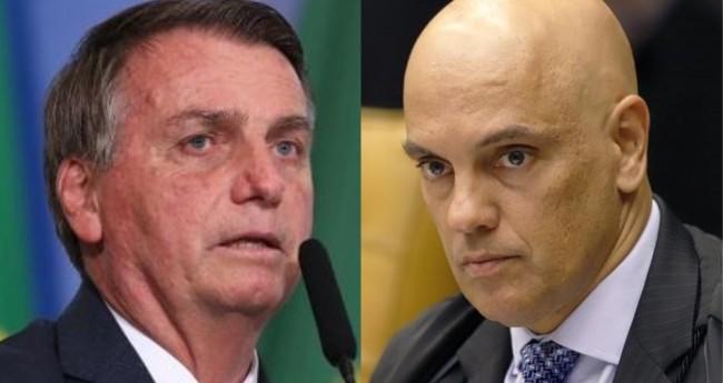 Jair Bolsonaro e Alexandre de Moraes - Foto: Isac Nóbrega/PR; STF