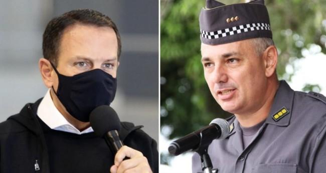 João Doria, e Coronel Aleksander Lacerda - Foto: Governo do Estado de São Paulo; Divulgação