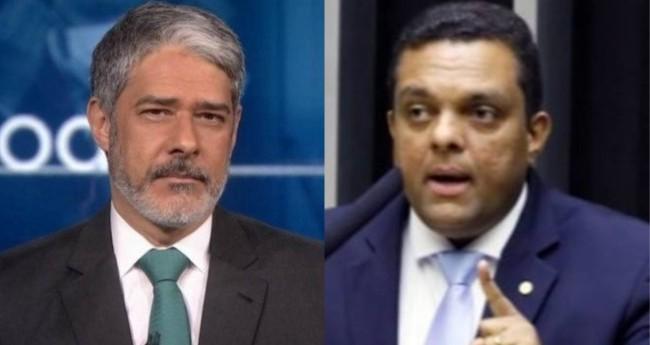 William Bonner e Otoni de Paula - Foto: Reprodução/TV Globo; Luis Macedo/Câmara dos Deputados