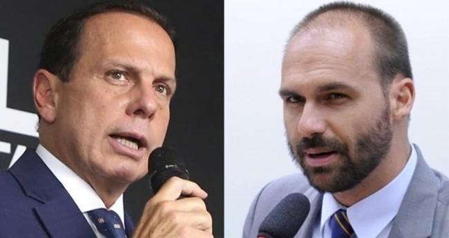 João Doria e Eduardo Bolsonaro - Foto: Reprodução