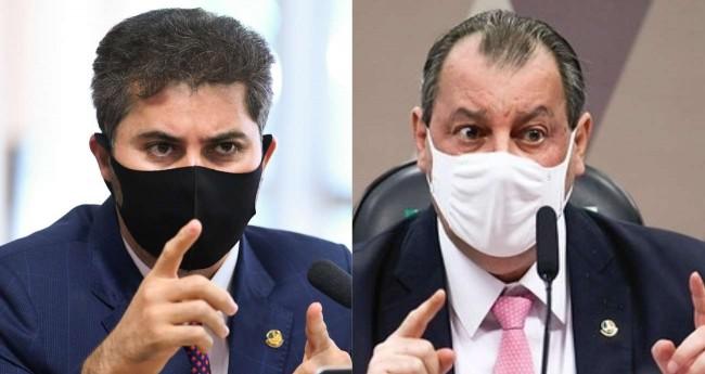 Marcos Rogério e Omar Aziz - Foto: Agência Senado