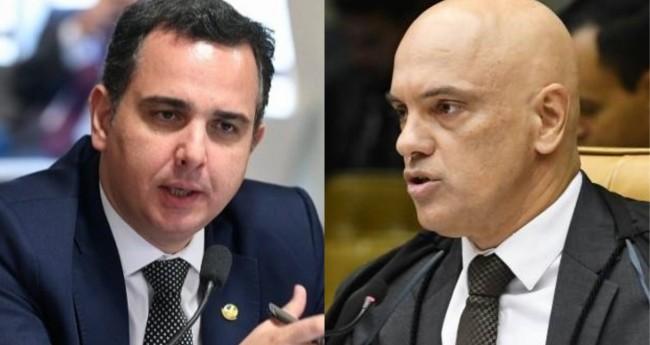 Rodrigo Pacheco e Alexandre de Moraes - Foto: Senado; STF
