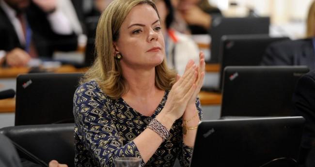 Gleisi Hoffmann - Foto:Edilson Rodrigues/Agência Senado