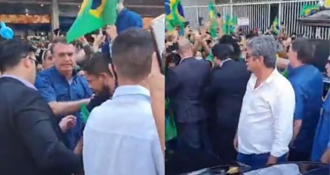 Jair Bolsonaro em Brasília (Reprodução)