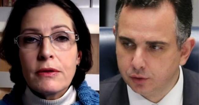 Cristina Graelm e Rodrigo Pacheco - Foto: Reprodução/JP; Fábio R. Pozzebom/Agência Brasil