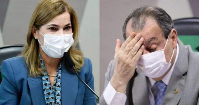 Mayra Pinheiro e Omar Aziz - Foto: Agência Senado